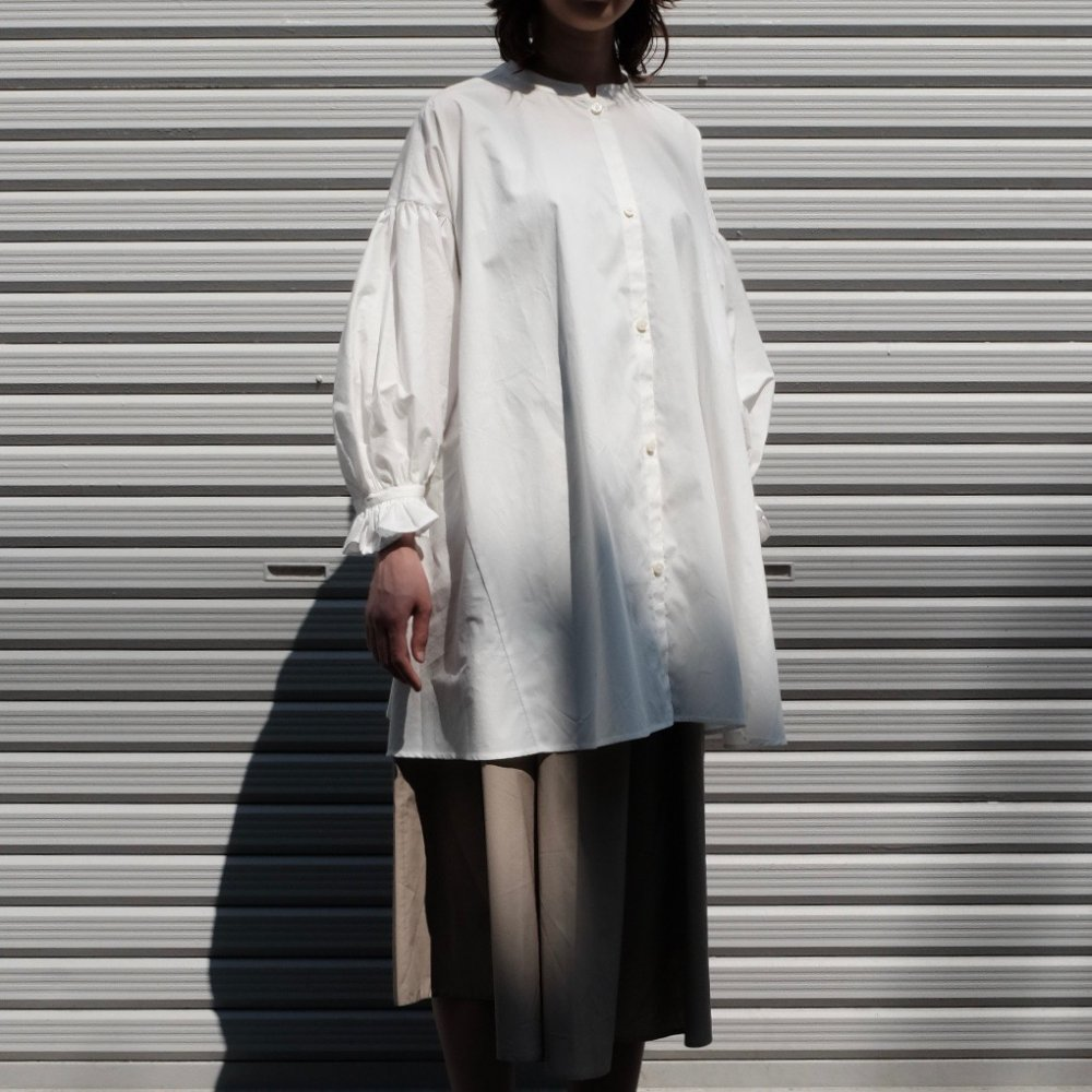 Sisak Balloon Sleeve Blouse (White) by suie