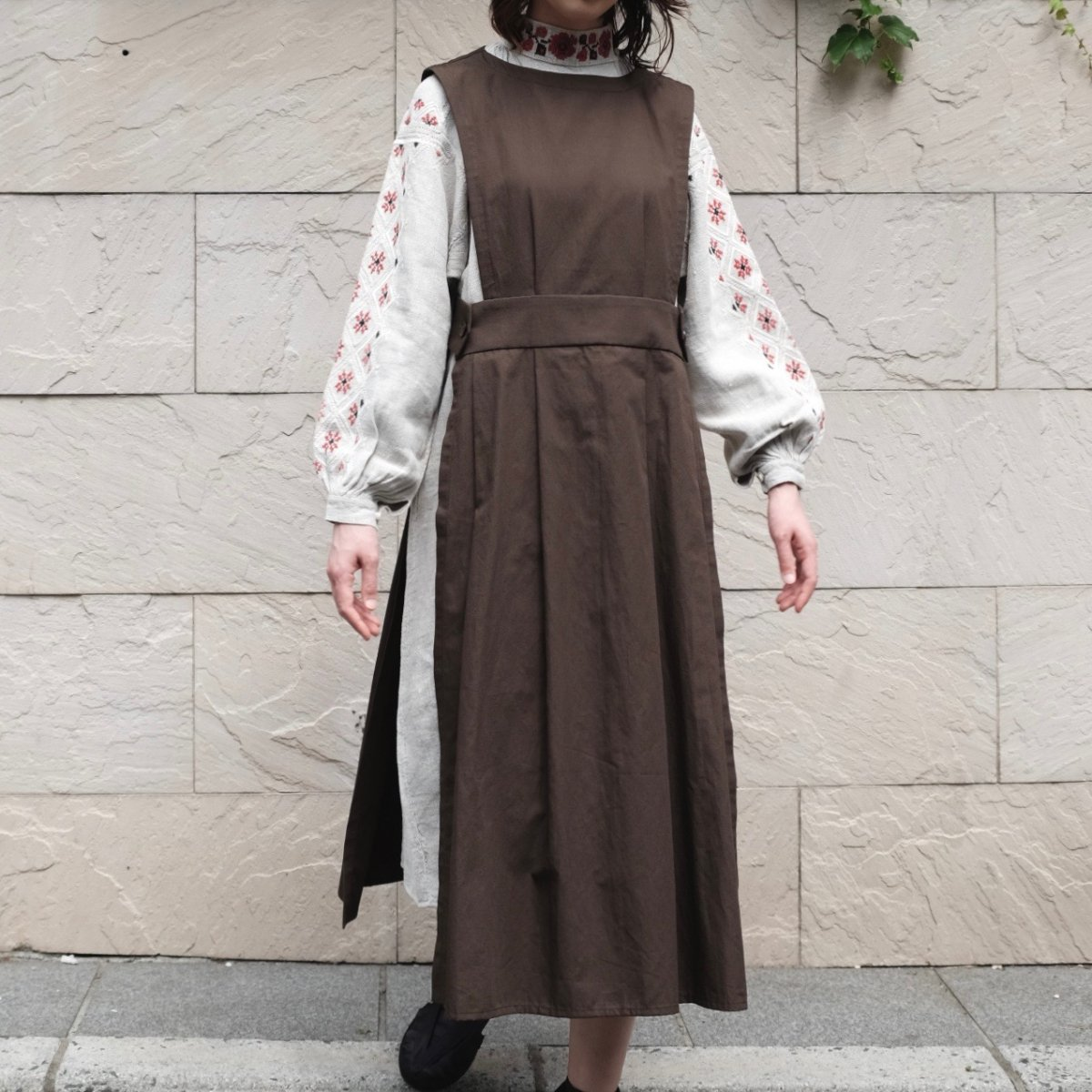 Apron Dress (Chocolate) by suie