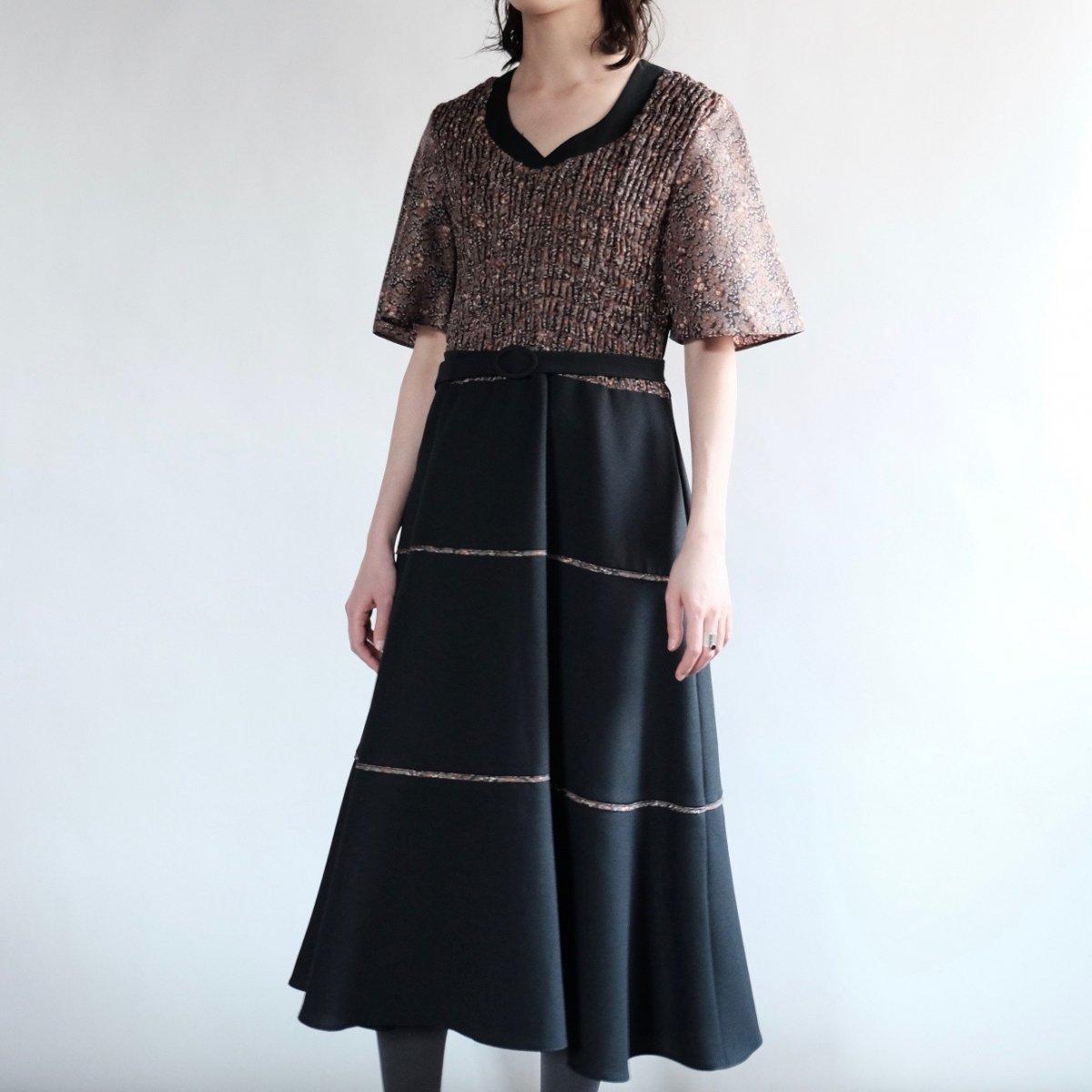 [VINTAGE] Bell Flared Midi Dress