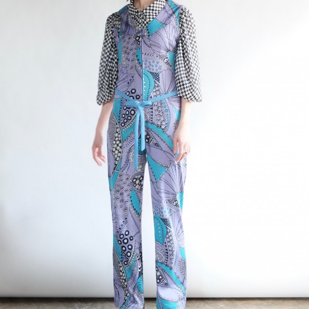 [VINTAGE] Lavender Kaleidoscopic Coverall