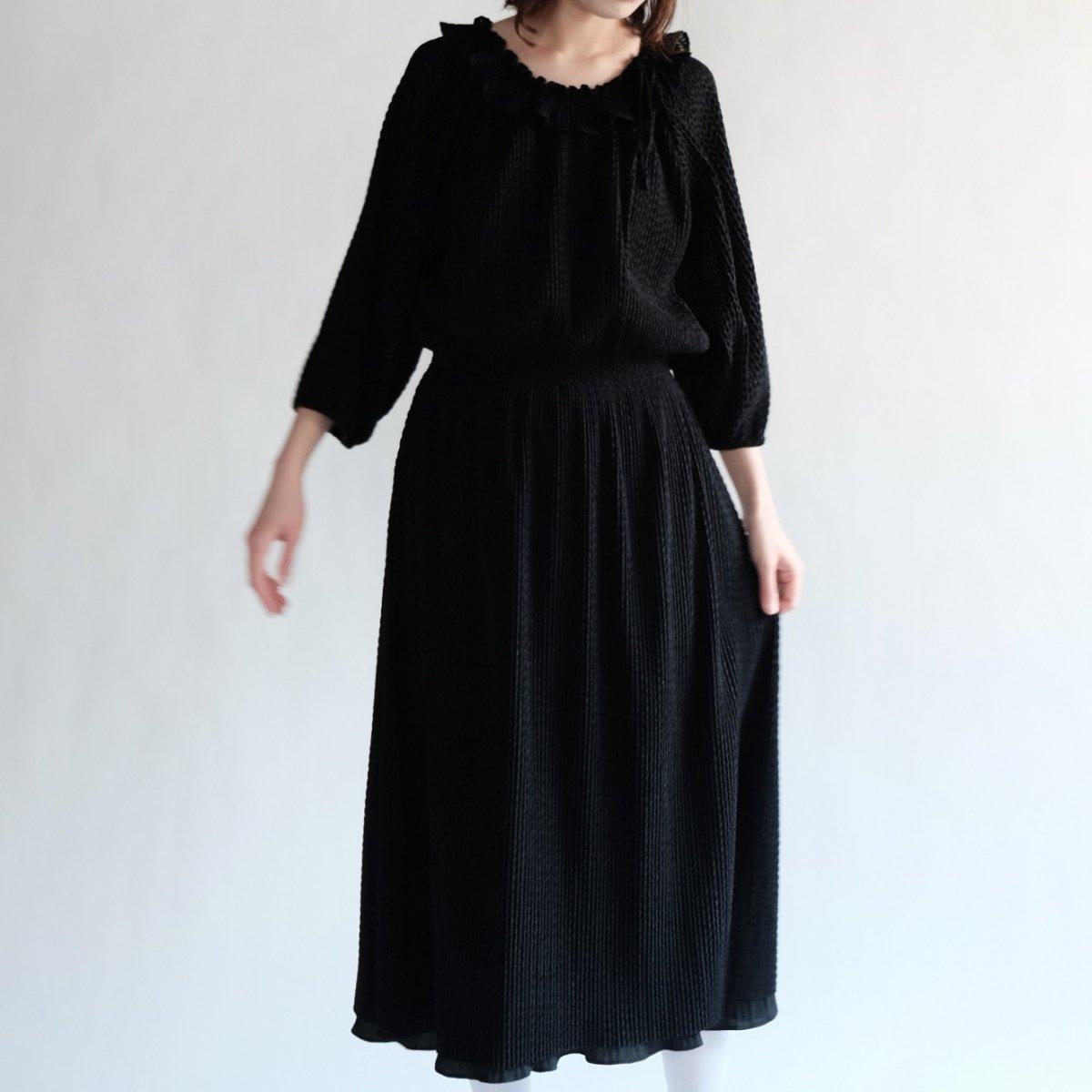 [VINTAGE] Black Sheer Zig-zag Dress