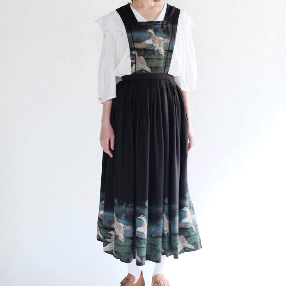 [VINTAGE] Duck Pinafore Dress