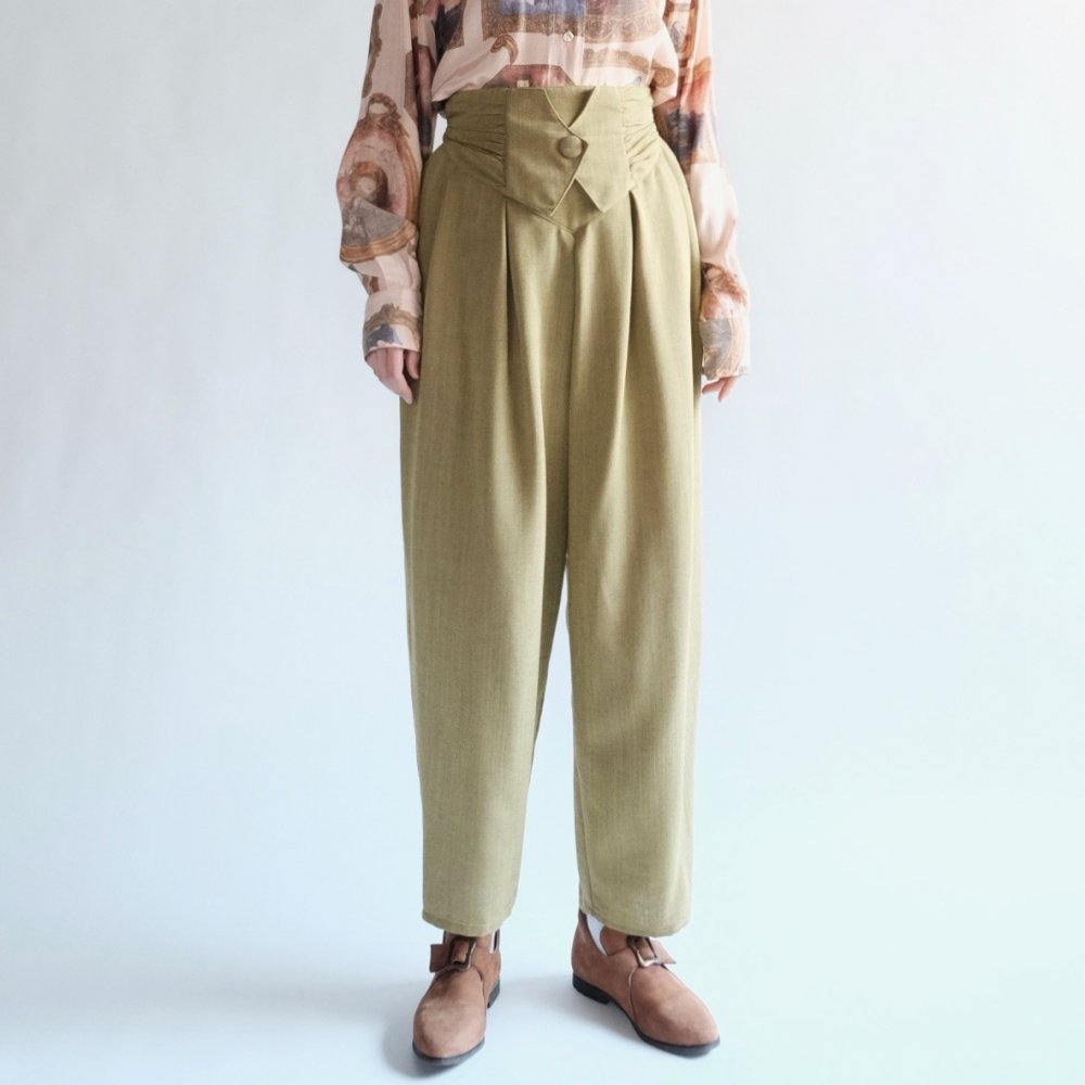 [VINTAGE] Pistachio High-waisted Trousers