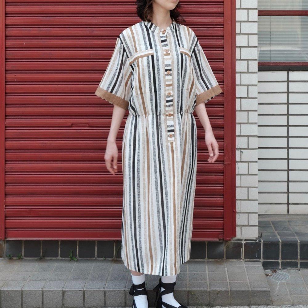 [VINTAGE] Mocha Stripe Dress