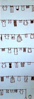 洗濯物(二度染)