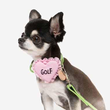 【Inu to Golf】Golf Pink Heart Collar