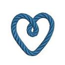 ロープのハート