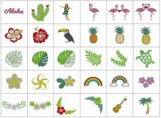 【刺繍データダウンロード】HawaiianEmbroideryDesigns