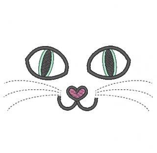 ネコちゃんの顔<アップリケ>
