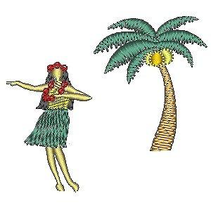 フラガールとヤシの木セット