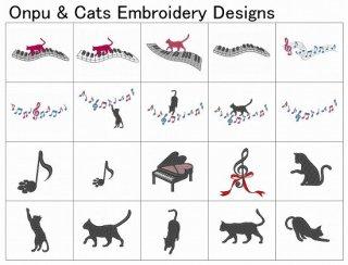 【刺繍データダウンロード】Onpu&Cats
