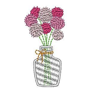 花瓶のセンニチコウ