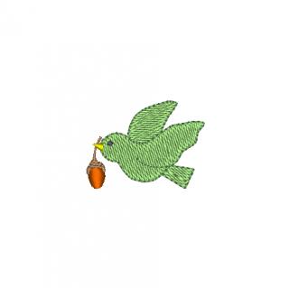 どんぐりを運ぶ鳥