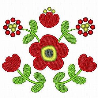 北欧風の花B