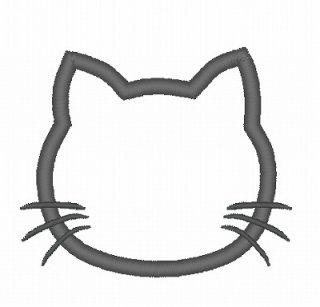 【ダウンロードお試し用】ネコのアップリケ