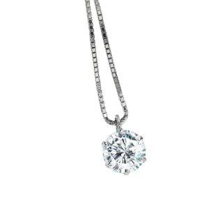 プラチナ1粒ダイヤモンドネックレス 0.5ct(JUD-2-02)(D-01)