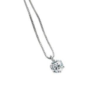 プラチナ1粒ダイヤモンドネックレス 0.3ct(D-01)