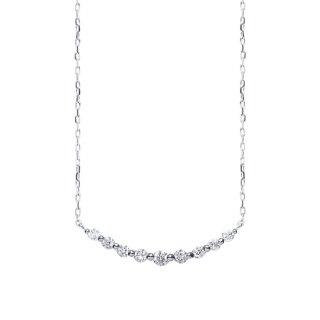 9石ダイヤモンドネックレス WG(JUD-5-03)
