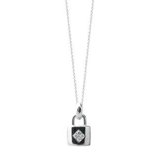 K18WGダイヤネックレス