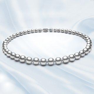 グレー真珠ネックレス