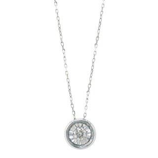 K18WG ダイヤモンドネックレス
