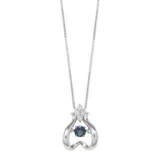 K18WG アレキサンドライトダイヤモンドネックレス