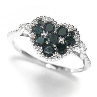 07| K18WG ブラックダイヤリング