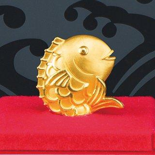 純金製 おめで鯛