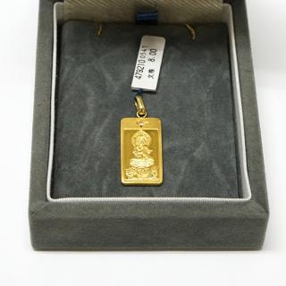 純金製仏像ペンダント 文殊