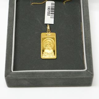 純金製仏像ペンダント 大日