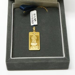 純金製仏像ペンダント 普賢