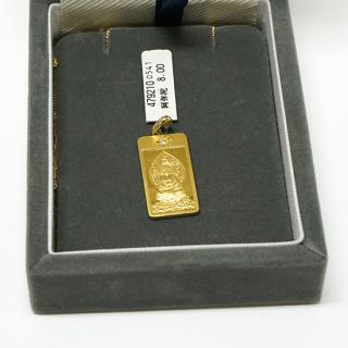 純金製仏像ペンダント 阿弥陀