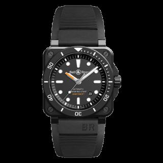 Bell & Ross ベル&ロス インストゥルメント BR03-92 ダイバー ブラックマット BR0392-D-BL-CE/SRB