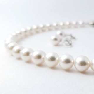 アコヤ真珠 ネックレス&イヤリングセット 定番8.0mm~8.5mm珠