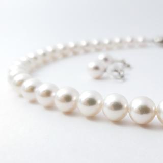 アコヤ真珠 ネックレス&イヤリングセット 定番8.5mm~9.0mm珠