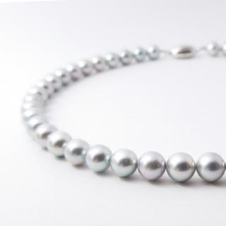 グレー真珠ネックレス 定番8.5mm~9.0mm珠
