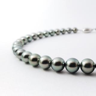 黒蝶真珠ネックレス 約8.0〜10.0mm珠 スタンダードタイプ