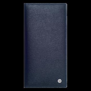 MONTBLANC モンブラン 4810 ウェストサイド ロングウォレット 6cc ジップ式ポケット付き Blue/Grey MB118659