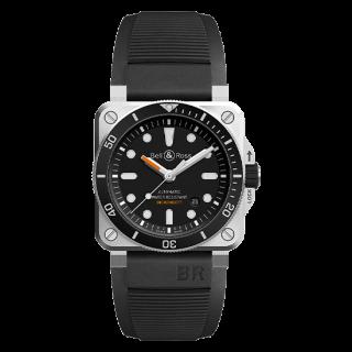 Bell & Ross ベル&ロス インストゥルメント BR03-92 ダイバー BR0392-D-BL-ST/SRB