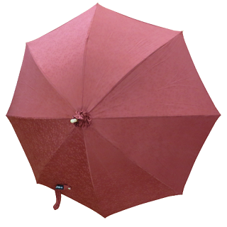 日傘 (コーラル / coral) 薄紅に和風花柄