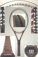 【中古テニスラケット】W0159 ウイルソン W6 WILD CRIMSON