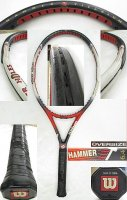 【中古テニスラケット】W0822 ウイルソン ハンマー6.4ストレッチ パワーホール