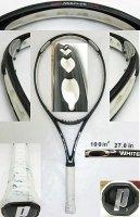 【中古テニスラケット】P0459 プリンス O3ホワイト O3 WHITE