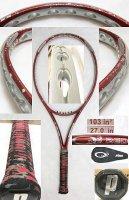 【中古テニスラケット】P0508 プリンス オースリー XF レッド O3 XF RED