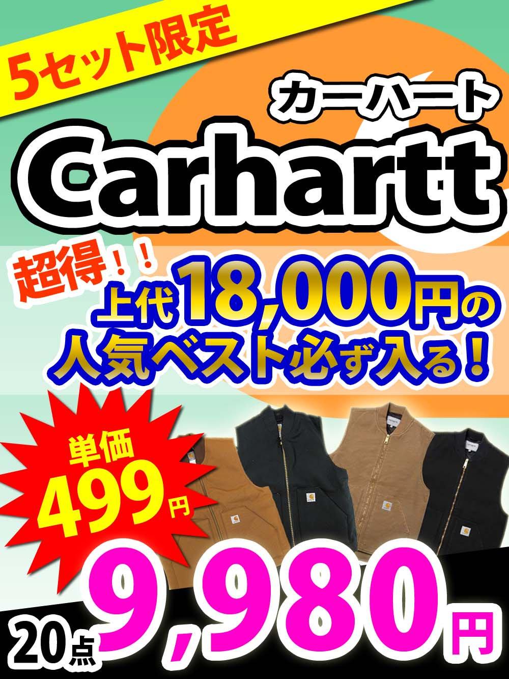 【5セット限定追加!Carhartt(カーハート)】上代18000円の人気ベスト確定【20点】@499