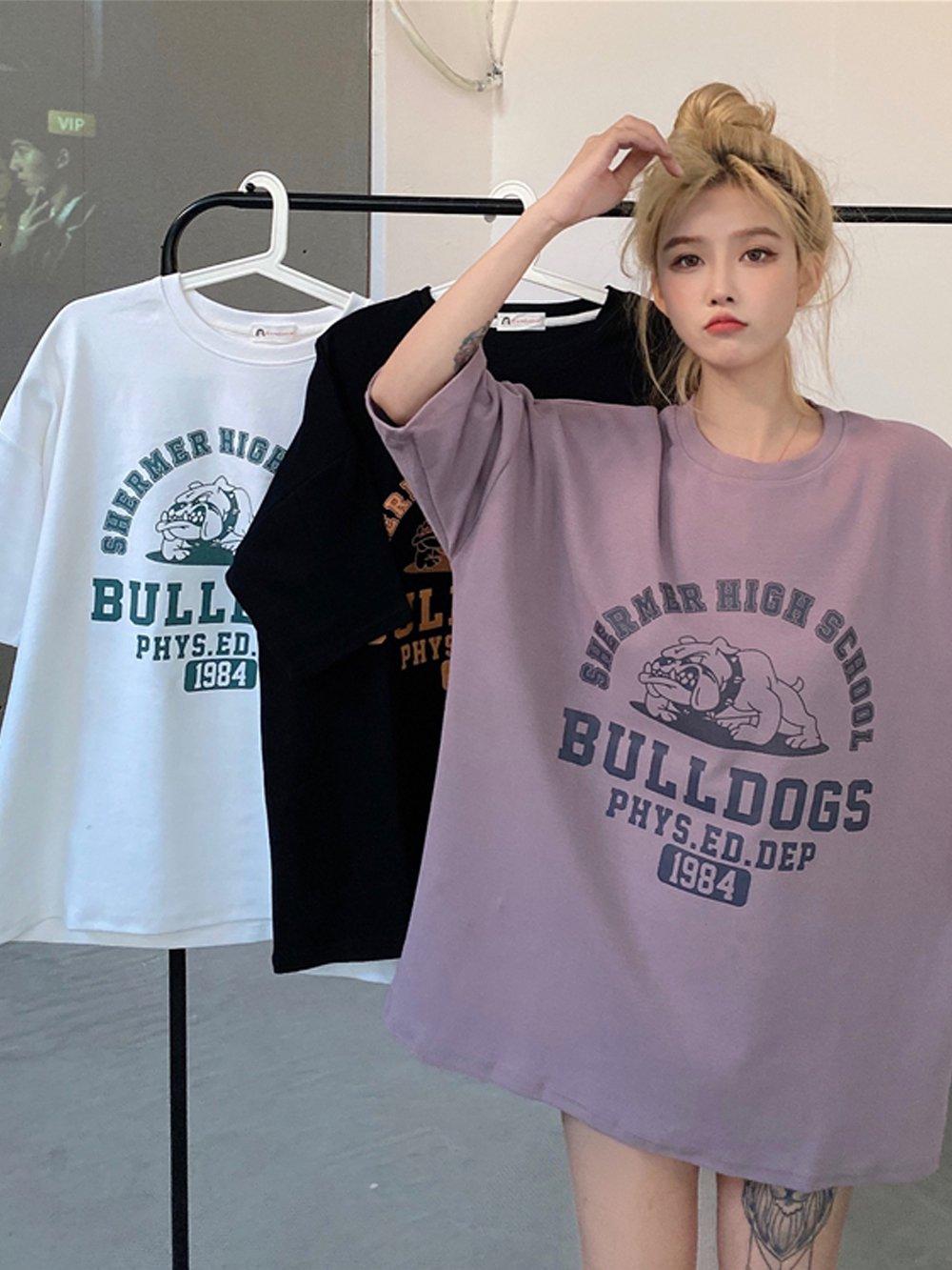 【広州仕入れ】ルーズデザイン半袖Tシャツ
