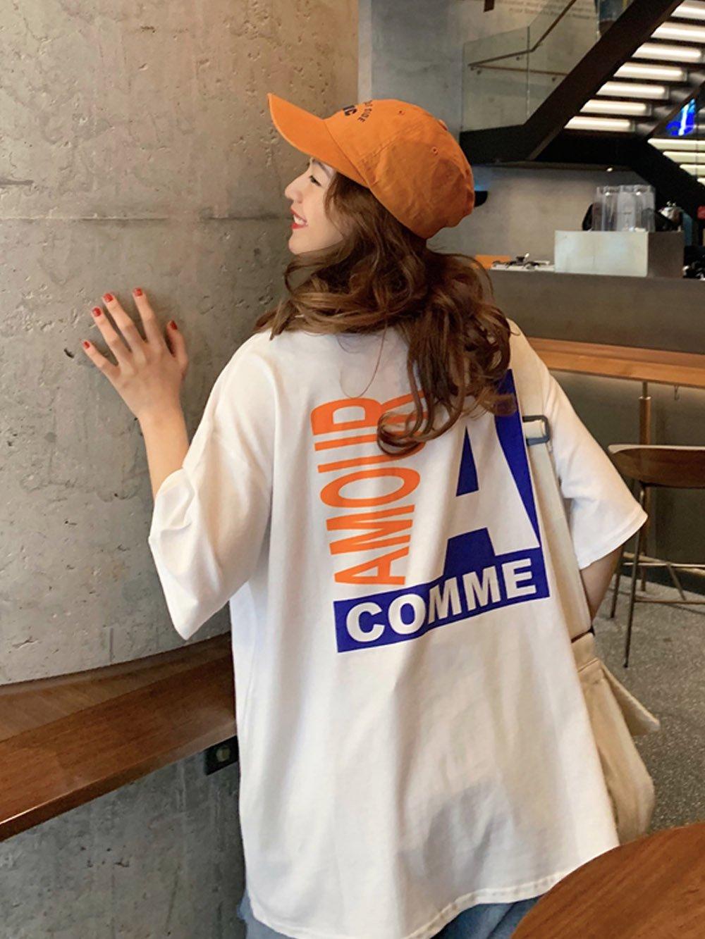 【広州仕入れ】BIGプリント半袖Tシャツ