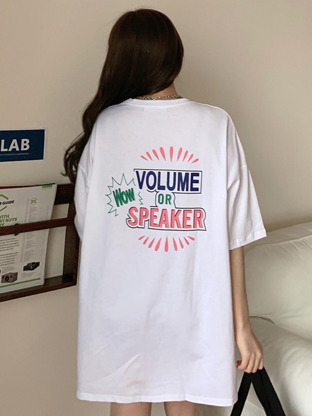 【広州仕入れ】半袖ロングTシャツロゴ