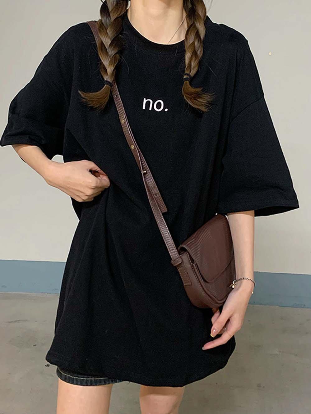 【広州仕入れ】レタープリント半袖Tシャツ