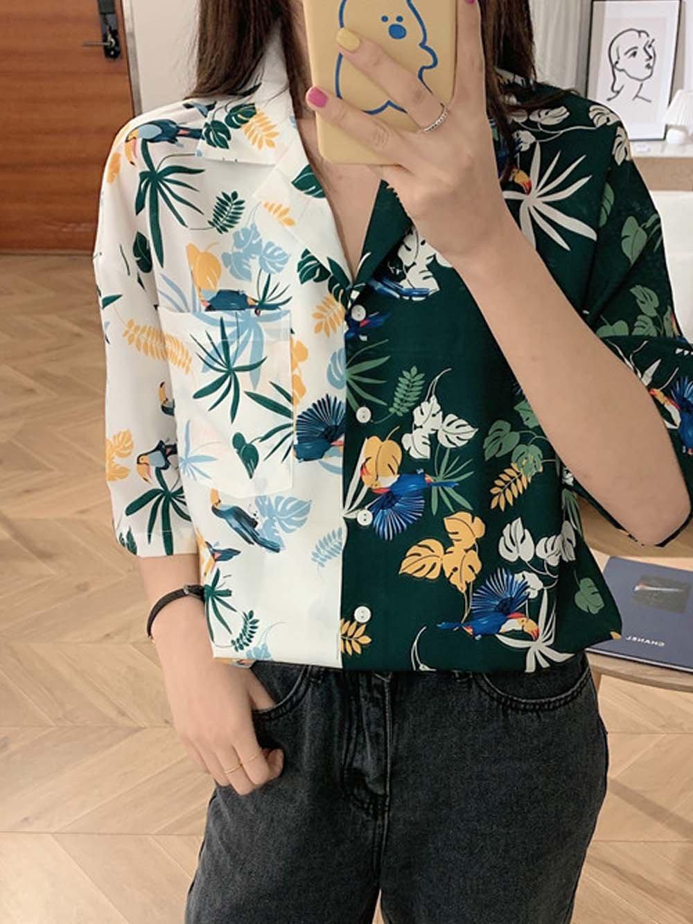 【広州仕入れ】ヴィンテージ風リゾートシャツ